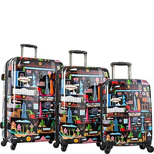 Heys Fernando FVT USA Black 3-Piece Hardside Spinner Upright Luggage Set