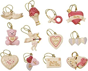Lenox Valentine 12-Piece Ornament Set, 0.30 LB, Multi