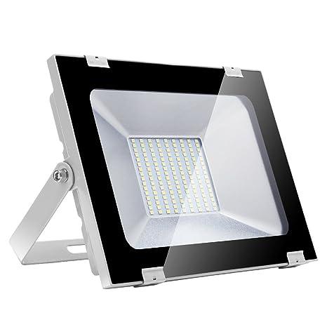 100w Foco led exterior,Led Proyector para Exterior Iluminación Decoración alto brillo 10000LM IP 65,6000K blanco Cálido,luz led para Jardín, Garaje, ...