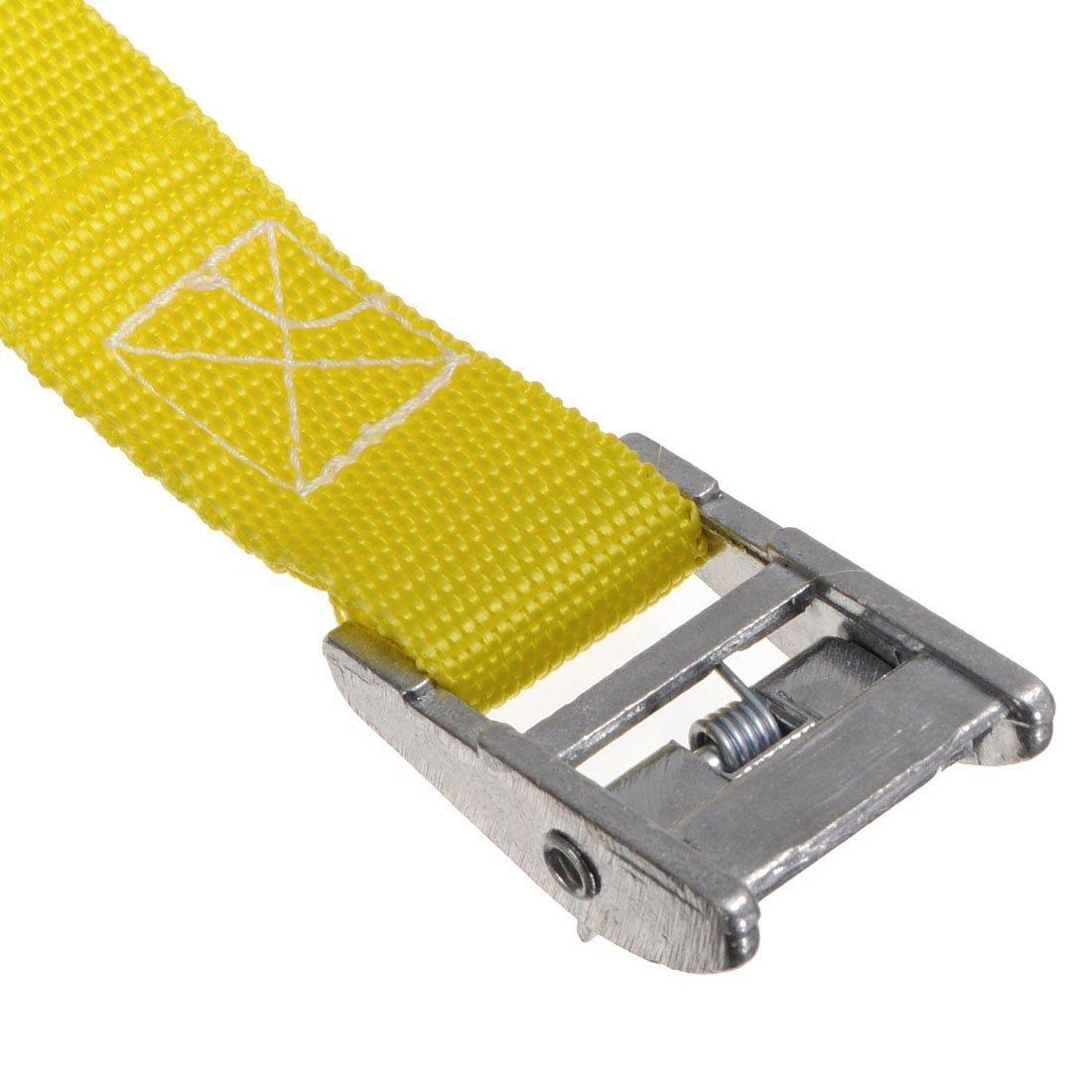 lujiaoshout 4 PCS de Nylon Correas de Equipaje Estante Ajustable Coche Cinturones de Seguridad de Embalaje de Equipaje Correas con Hebilla de Metal Color al Azar