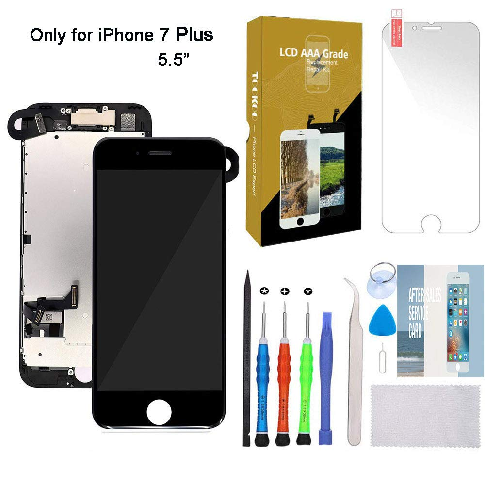 for iPhone 7 Plus Screen Replacement 5.5'' Black LCD Display with 3D Touch Screen Digitizer Full Assembly (Black-7P, iPhone 7 Plus Screen Replacement Black 5.5'') by smartshop