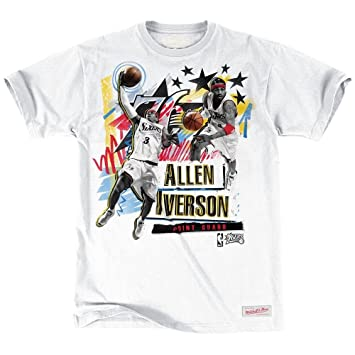 Mitchell & Ness Philadelphia 76ers Allen Iverson traditional player NBA T-Shirt blanco Blanco blanco