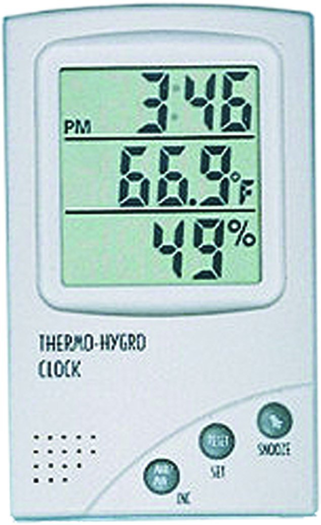 General Tools DTH800 Digital Temperature and Humidity Monitor, with Clock