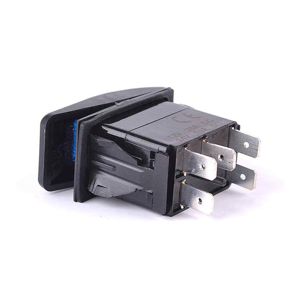 kesoto Barbell Spst Switch Switch On-off Iluminado Main Boat Car Winch Remolque