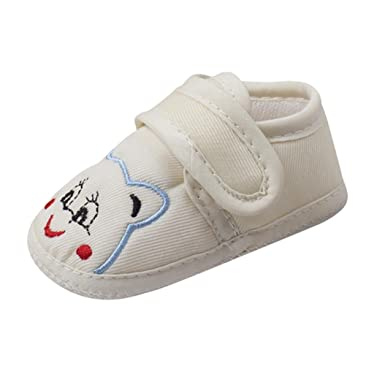 IGEMY Newborn Infant Baby Girls Crib Shoes Soft Sole Anti-slip Sneakers Bandage Shoes