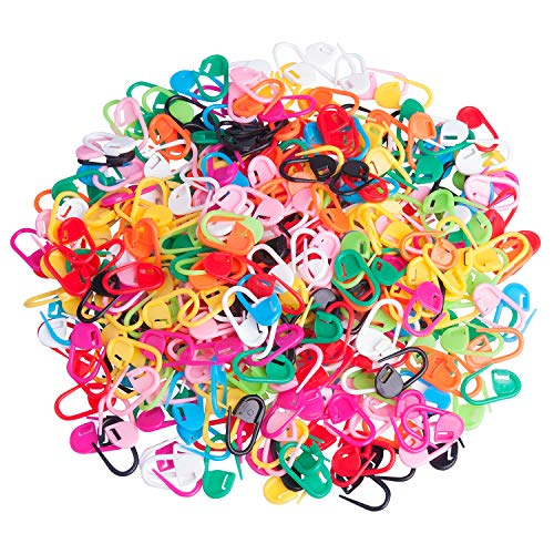 400 PCS Stitch Markers Knitting Crochet Locking Accessories Needle Clip Counter, 10 Colors (400 Knitting Stitches)