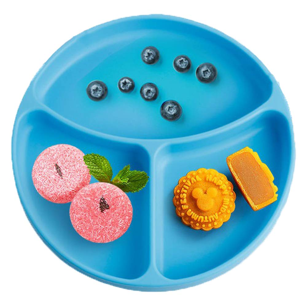 Baby Dröm Suction Plates for Babies, Toddlers, Silicone Placemats for Kids That Stick to High Chair Trays and Table, Baby Dishes - Kids Plates