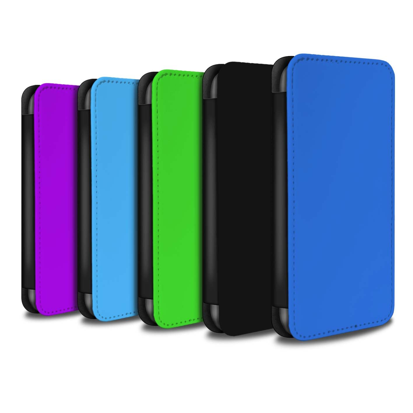 STUFF4 PU Leather Wallet Flip Case/Cover for Apple iPhone X/10 / Pack 10pcs Design / Colours Collection