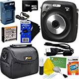 Fujifilm Instax Square SQ10 Hybrid Instant Camera + 16GB Memory Card + Protective Carrying Case + 6pc Accessory Kit w/ HeroFiber Ultra Gentle Cleaning Cloth