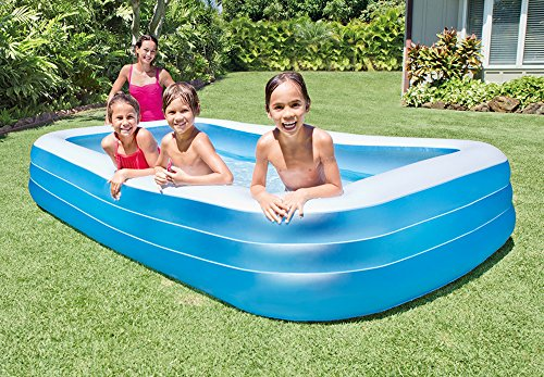"""Intex Swim Center Family Inflatable Pool, 120"""" X 72"""" X 22"""", for Ages 6+"""