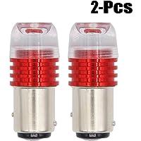 Outgeek 2PCS Car Light Bulb High Power Strobe Flashing LED Car Brake Light