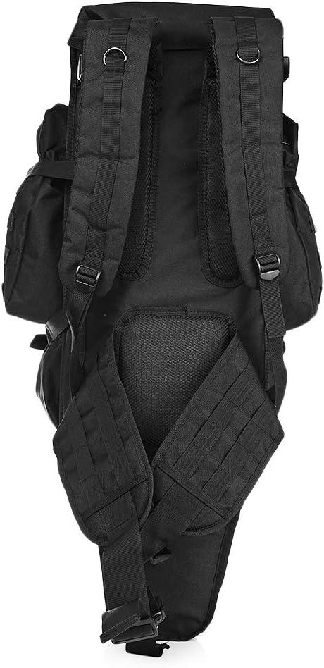 LOLPI 60L Outdoor Militär-Rucksack für Jagd, Schießen, Camping, Trekking, Wandern, Reisen Schwarz