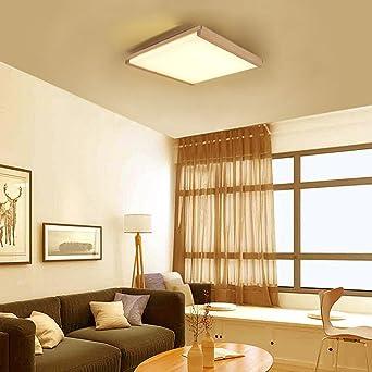 zmh 3 in1 – Lámpara LED de techo Tres Colores Luz Cambio de color Lámpara de techo de madera en varios Forma Desgin para mesa de comedor dormitorio comedor hogar habitaciones.: Amazon.es: