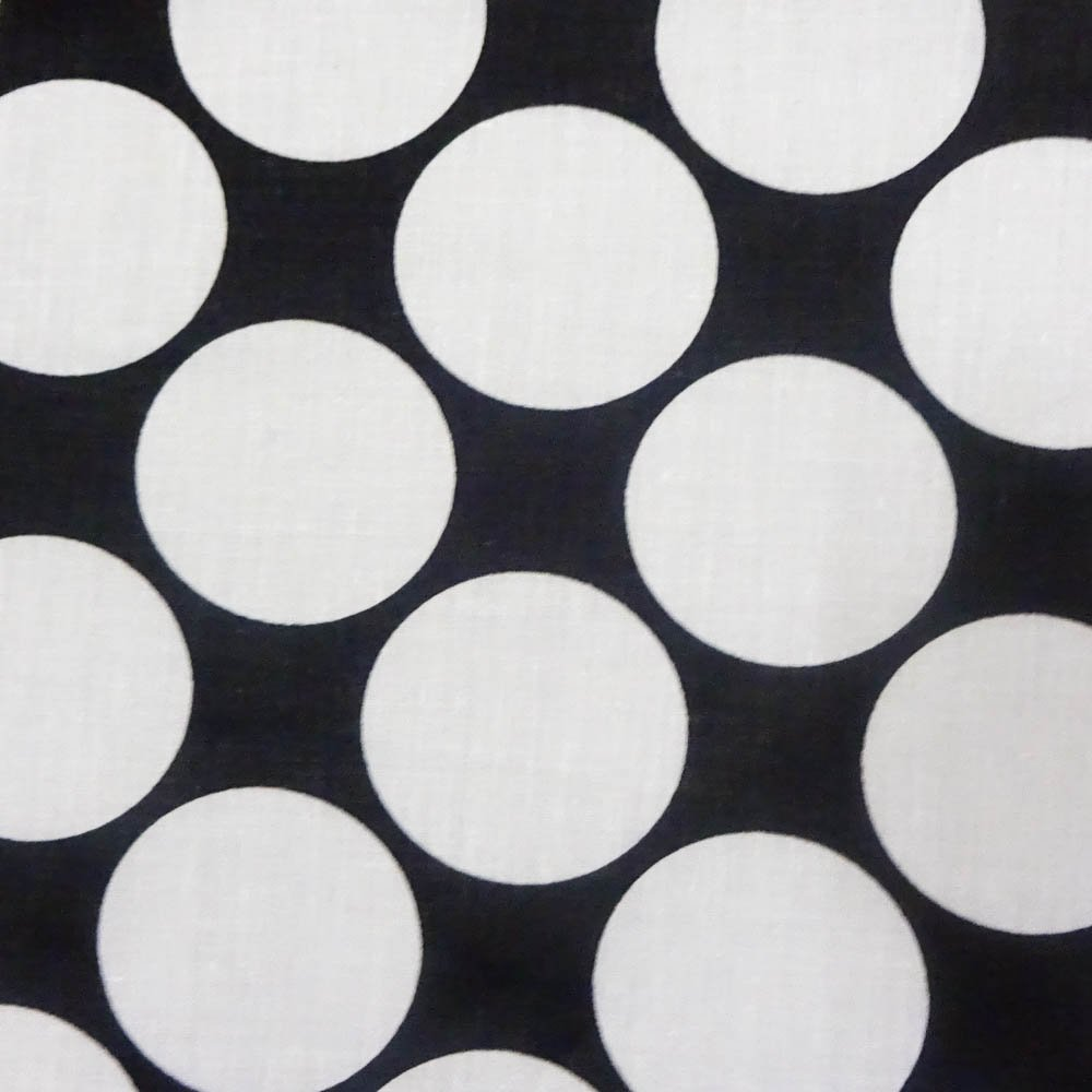 Giant Polka Dot White on Black Poly Cotton, 58/60 Inches Wide - Sold By The Yard (FB) by Fabric Bravo   B00YJCBLFI
