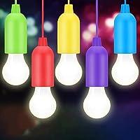 BINKE Led-campinglampen, draagbaar, ledlampen, gloeilamp, decoratief licht, noodlicht (5 stuks) voor lampen, camping…