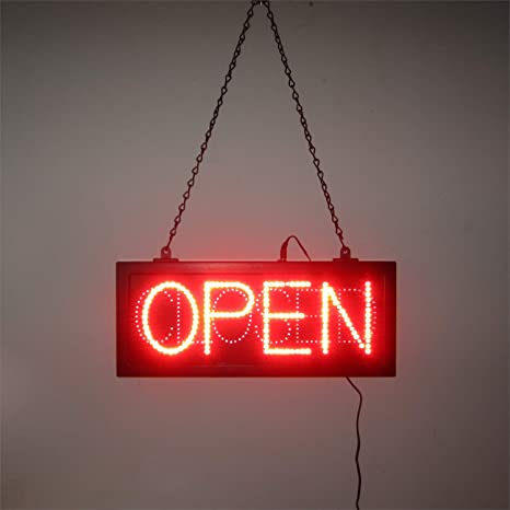 Amazon.com: neonetics LED abierto y cerrado Sign Sign con ...