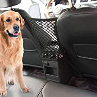 Car Dog Barrier Vehicle Backseat Mesh Universal Obstacle Stretchable Front Seat Pet Barrier Net Organizer Auto Backseat Storage Prevent Disturb Stopper from Children Dogs for SUV