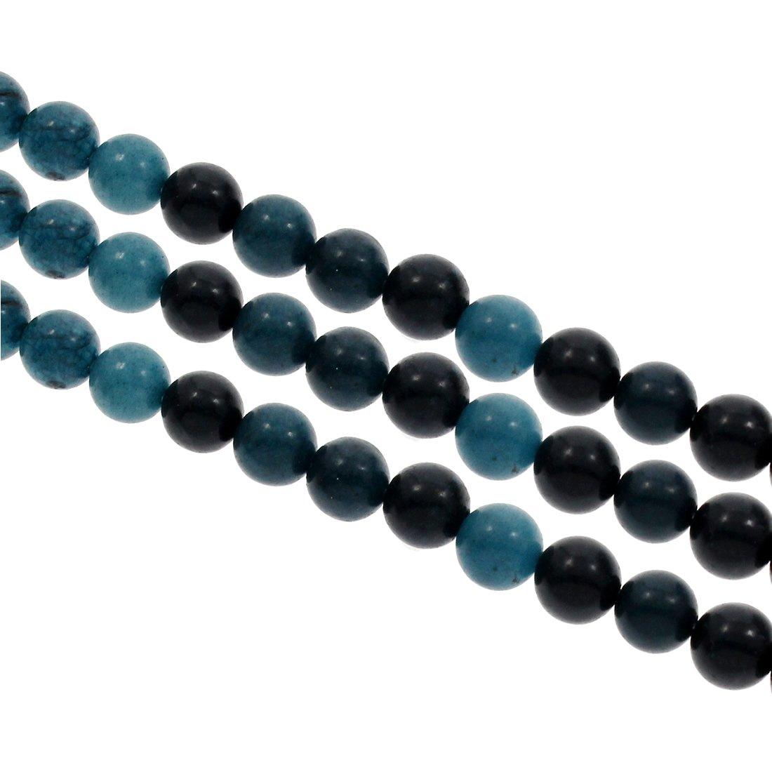 Natürliche Streifen Achat Perlen 8mm Grau Frosted Kugel Edelsteine BEST G739