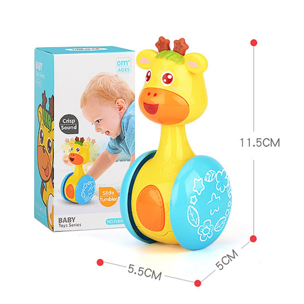 Amazon Com Coloom Cartoon Giraffe Tumbler Doll Roly Poly Baby Toys