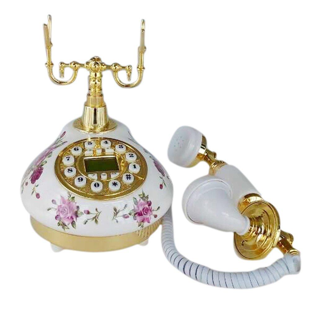 Teléfono vintage de ceramicahttps://amzn.to/2QRWPgb