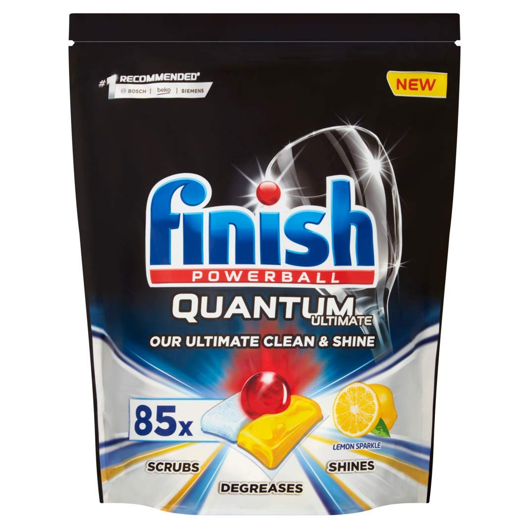 Finish Quantum Ultimate - Pastillas para lavavajillas (85 pestañas ...