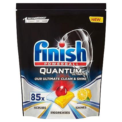 Finish Quantum Ultimate - Pastillas para lavavajillas (85 pestañas ...