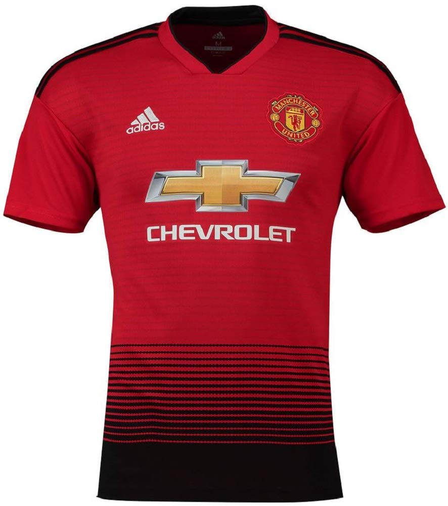 adidas(アディダス) マンチェスターユナイテッドFC ホームユニフォーム 2018/19 Manchester United FC Home Shirt 2018/19 [並行輸入品] B07JGC5ZTR インポートS|18 ヤング / Young [プレミアリーグバッジ付き]  インポートS