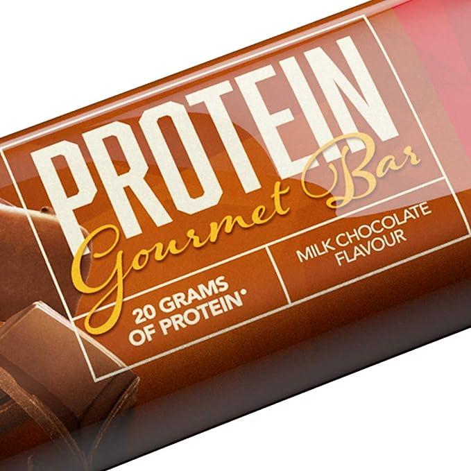 Prozis Protein Gourmet Bar 80 g Chocolate con leche Fuente ...