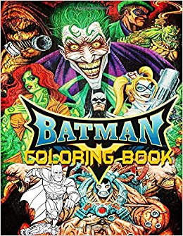 Batman Coloring Book: Journey to the wonderful fantasy world ...