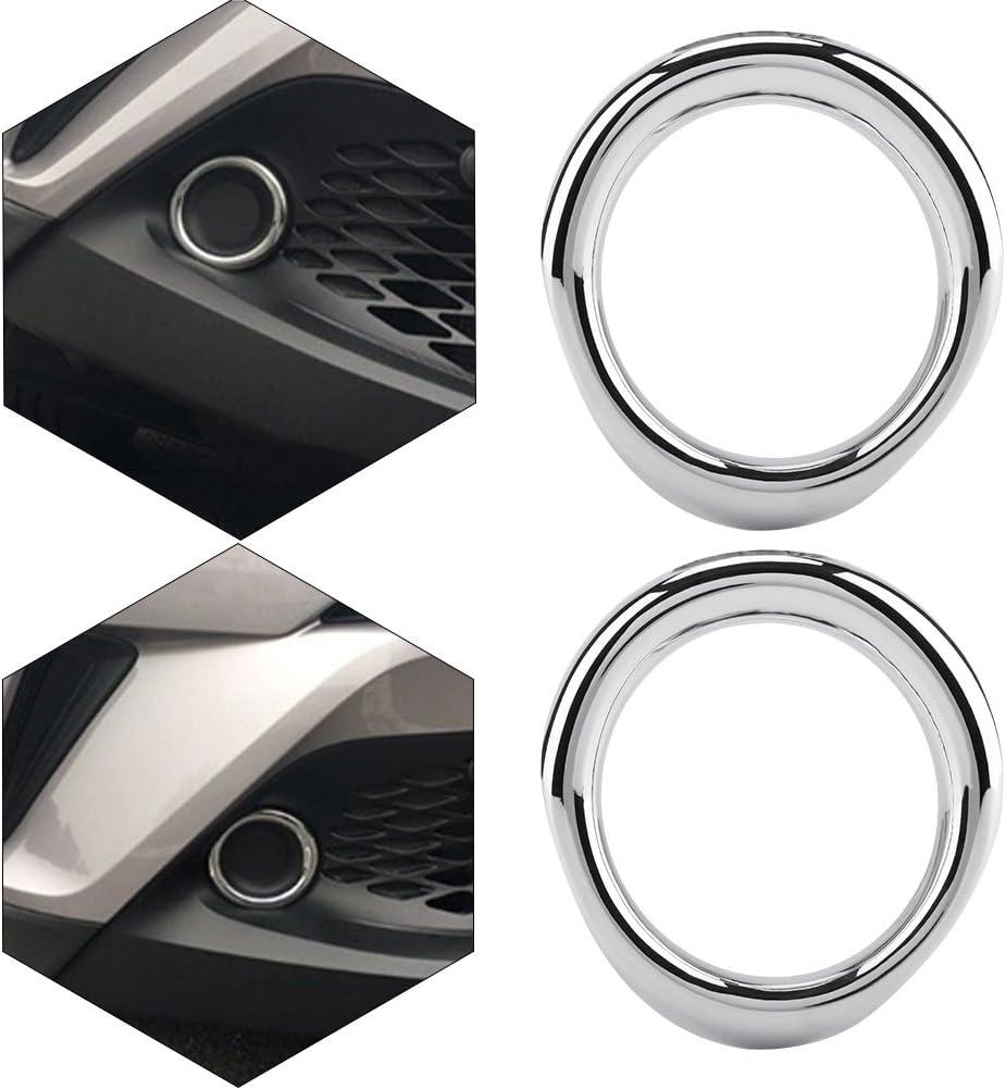 Fydun Nebelscheinwerferabdeckung ABS Chrom Nebelscheinwerferabdeckung Verkleidung 2tlg Passend f/ür CHR 2017-2018