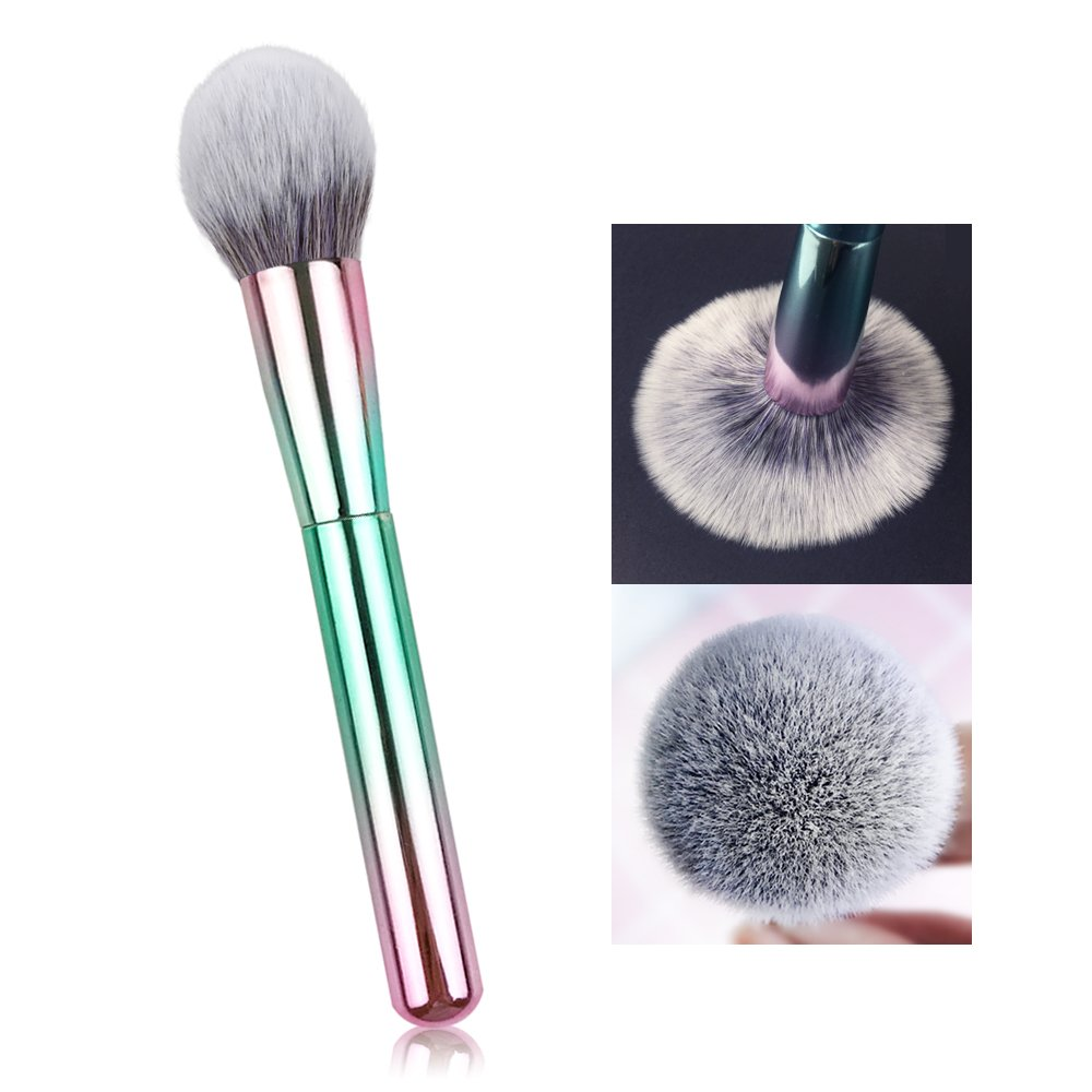 L COSMETIC Powder Brush Professional Kabuki with Multi-color, Luxury Soft Makeup Tool Blush Foundation Blending Brush