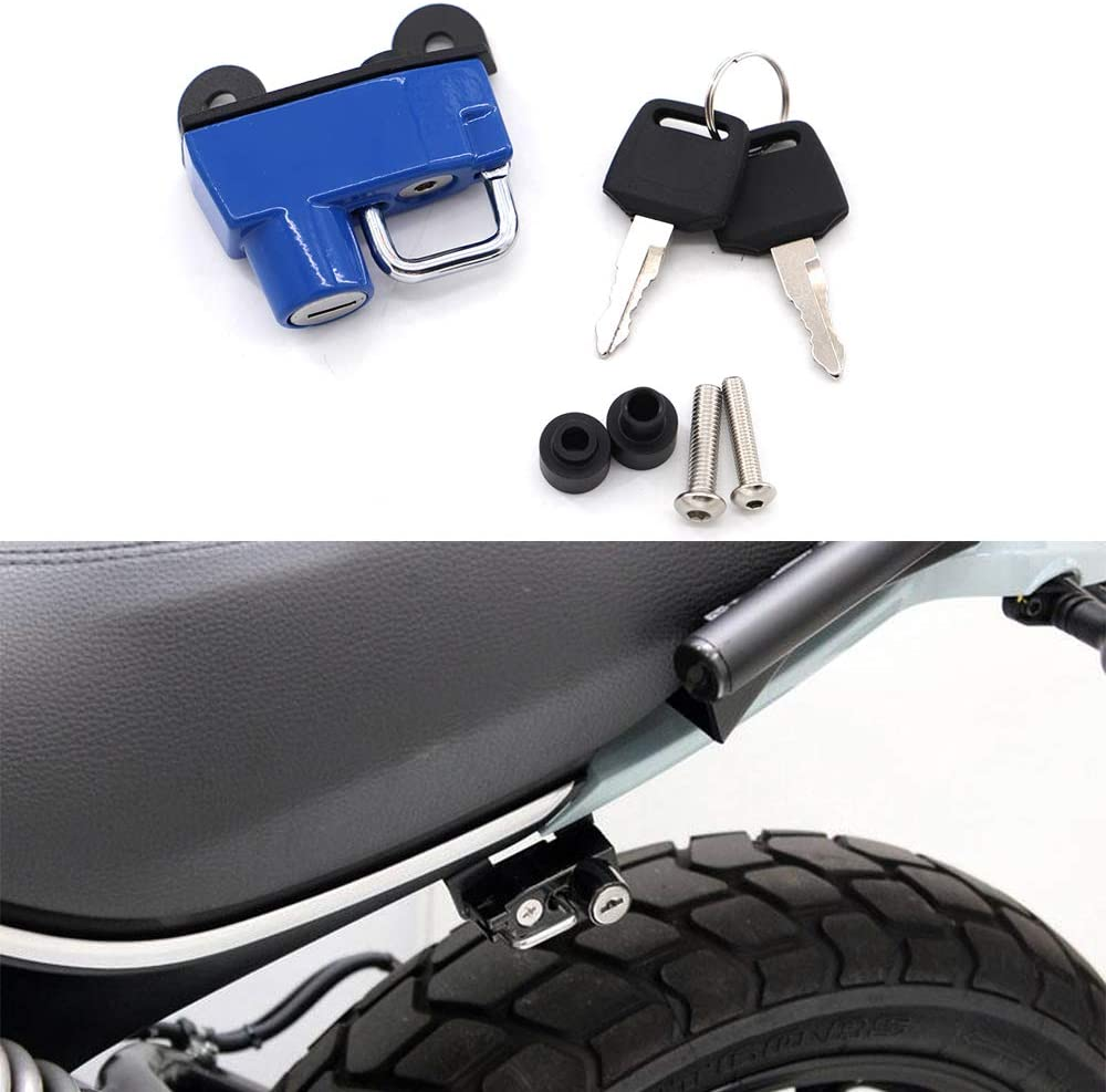 Motorcycle Helmet Lock Anti-Theft Combination PIN Locking Secures For Ducati Scrambler Sixty//Icon//Urban Enduro 2015-2019