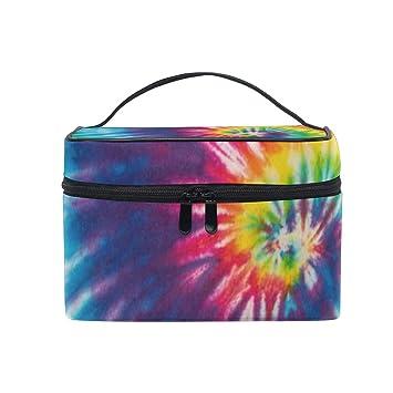 144bbc7df25c Makeup Bag Swirl Rainbow Cosmetic Bag Portable Large Toiletry Bag ...