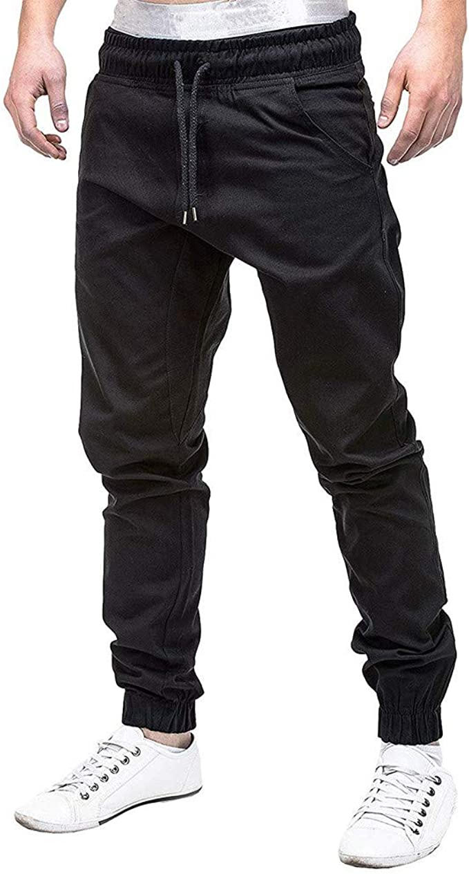 UK Men Slim Fit Jogger Sports Gym Bodybuilding Running Pants Trousers Sweatpants