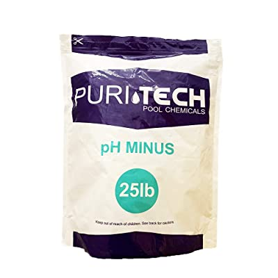 Puri Tech Chemicals pH Minus 25lb Resealable Bag for Swimming Pools & Spas pH Decreaser Down Reducer 100% Sodium Bisulfate Lowers Total Alkalinity & pH : Garden & Outdoor