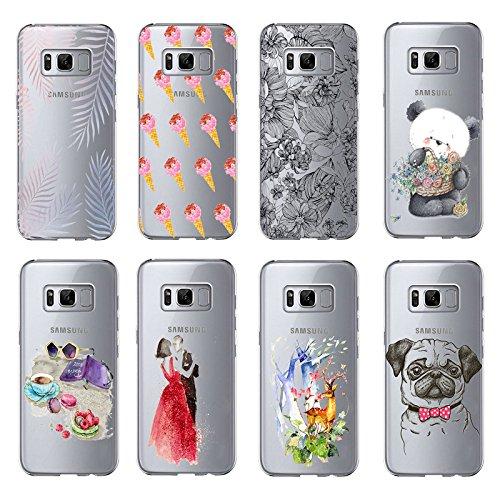 Vanki® Samsung Galaxy S8/S8 Plus Funda, Protectiva Carcasa de Silicona de gel TPU Transparente Ultra delgada Amortigua los golpes Case Cover Para Galaxy S8/S8+ 06