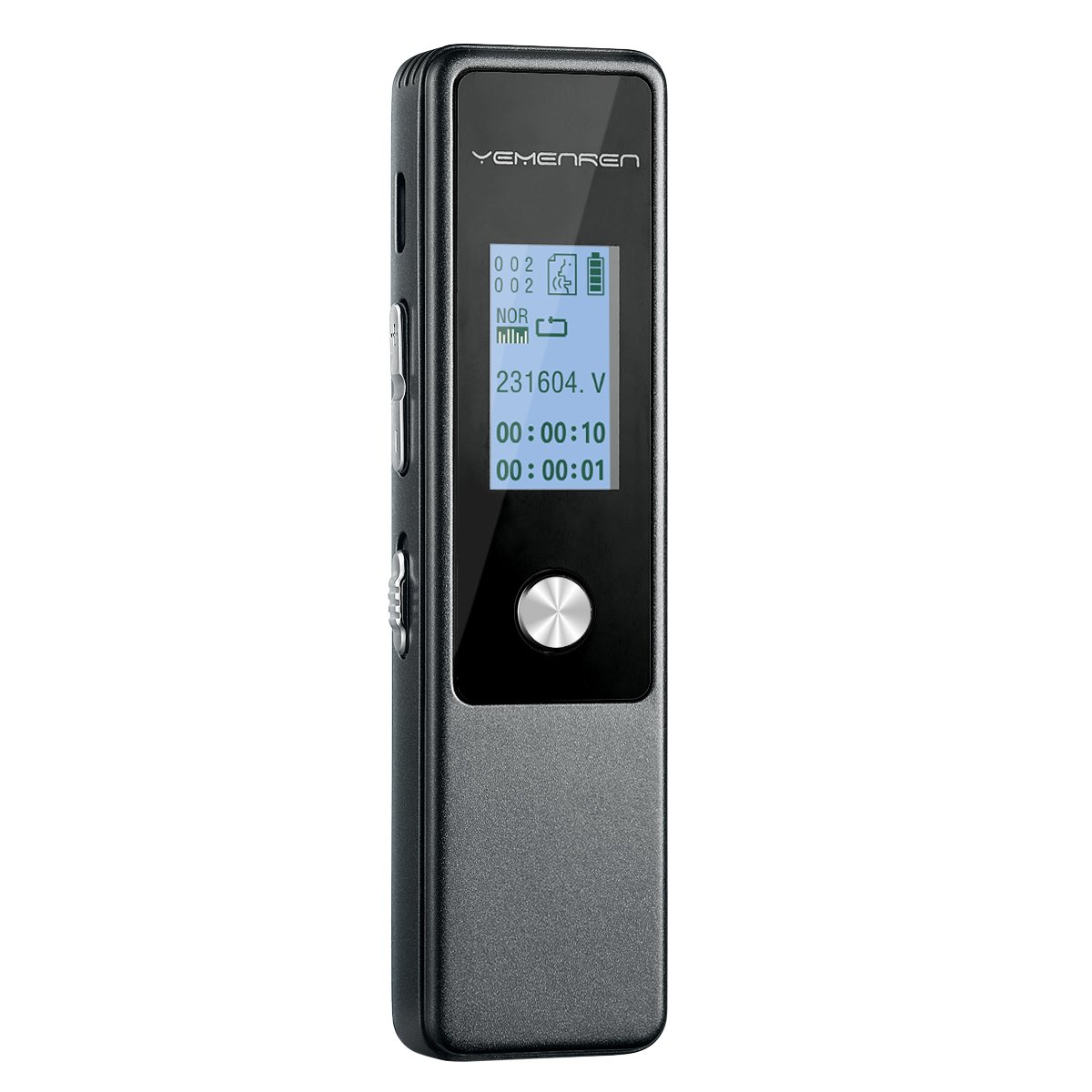 Digital Voice Recorder by Yemenren, 8GB 3072Kbps Sound Audio Recorder Dictaphone, Double Microphone, Metal Casing, Voice Activated