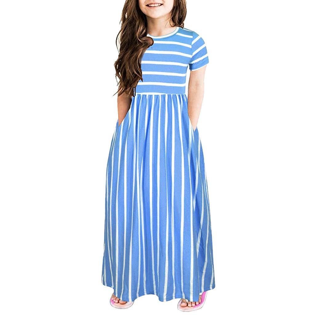 Kleid blau blau 11-12 Jahre Bibao Baby M/ädchen 0-24 Monate
