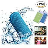 GEJULIC Cooling Towel More Effective Instant Cooling Chilly Cool Ice WetT owel for Sports, Workout, Fitness, Gym, Yoga, Pilates, Travel, Camping & More 2018 Updated Ice Wet Towel