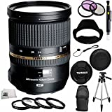 Tamron SP 24-70mm Di VC USD Nikon Mount (Model A007N) + 10PC Accessory Kit. Includes 3 Piece Filter Kit (UV-CPL-FLD) + MORE - International Version (No Warranty)