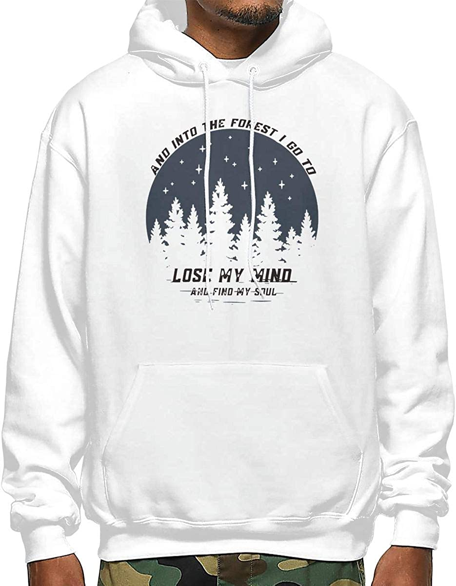 I Go to Forest to Find My Mind and My Soul2 Mens Hooded Sweatshirt White