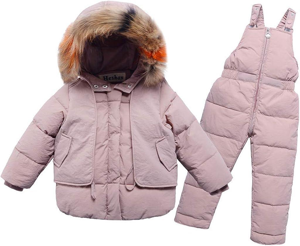LEXUPE Kinder Kinder Winter Warm M/ädchen Jungen Mit Kapuze Daunenjacken Oberbekleidung M/äntel Strampler