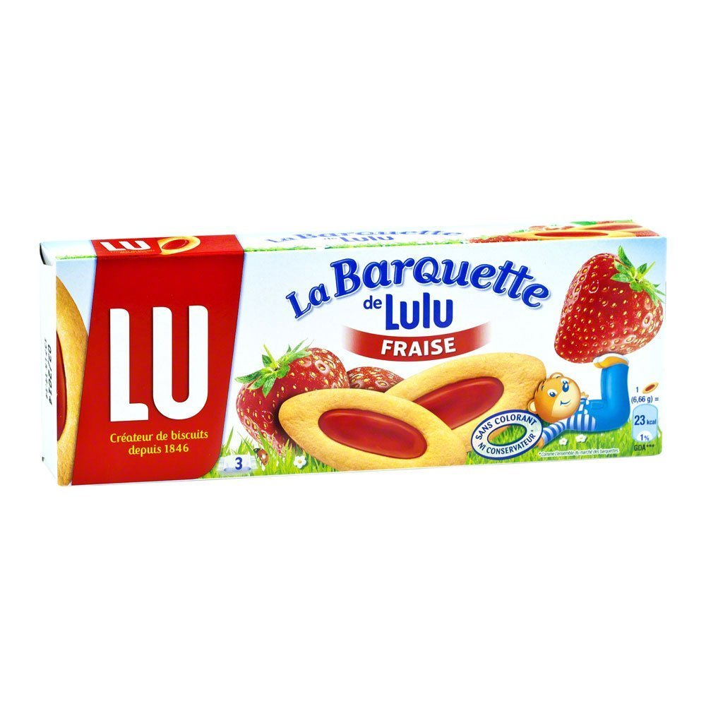 French Cookies LU Barquettes Strawberry by Kraft