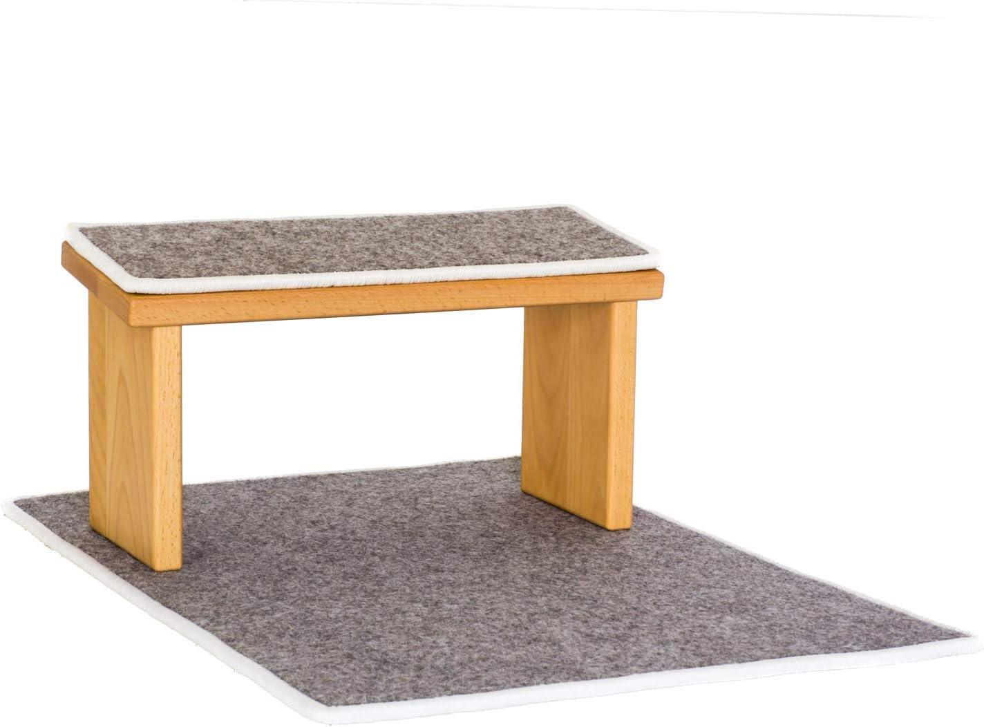 Stork Optional mit MeditationsMatte /& Polster Verschiedene H/öhen Edelholz Gutes zum Leben Meditationsbank Holz Klappbare