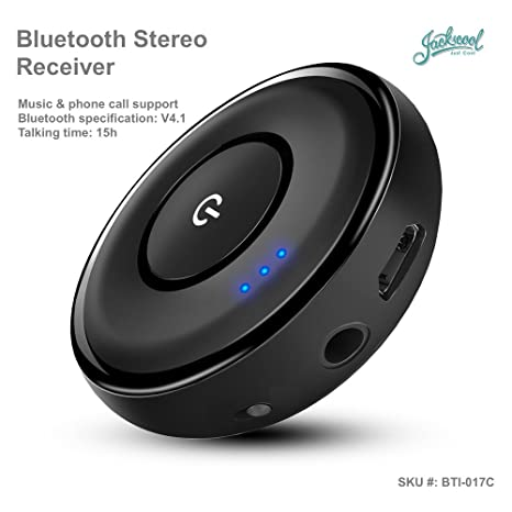 Mini Bluetooth Receiver with Phone Call Function  Latest Bluetooth  4 1/A2DP/AVRCP Technology, up to 14 Working Hours | Audio Adapter 3 5mm Aux  Adapter