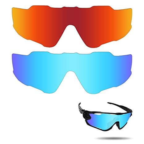 3b19d1b619 Image Unavailable. Image not available for. Color  Fiskr Anti-Saltwater Polarized  Replacement Lenses for Oakley Jawbreaker Sunglasses ...