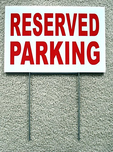 Family Reserved Parking Sign (1-Pc Sublime Popular Reserved Parking Sign Warning Declare Outdoor Message Plastic Coroplast Size 8