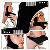 Beard Styling Shaping Shaving tool Template and Trimming Comb to Lines & Symmetry!!