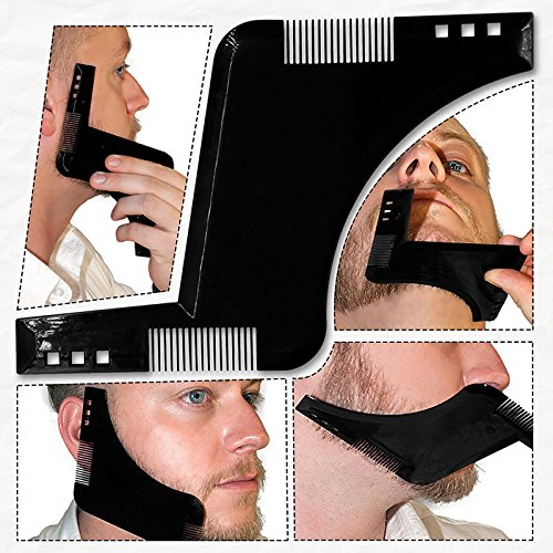 Beard Styling Shaping Shaving tool Template and Trimming Comb to Lines & Symmetry!! REDMONTANA