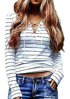 Amazon.com: Camisa de tirantes, Misaky para mujer, manga ...